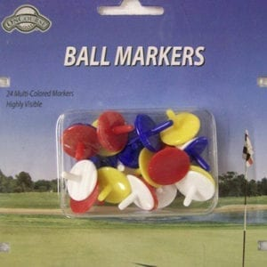 24 Multi-Colored Ball Markers