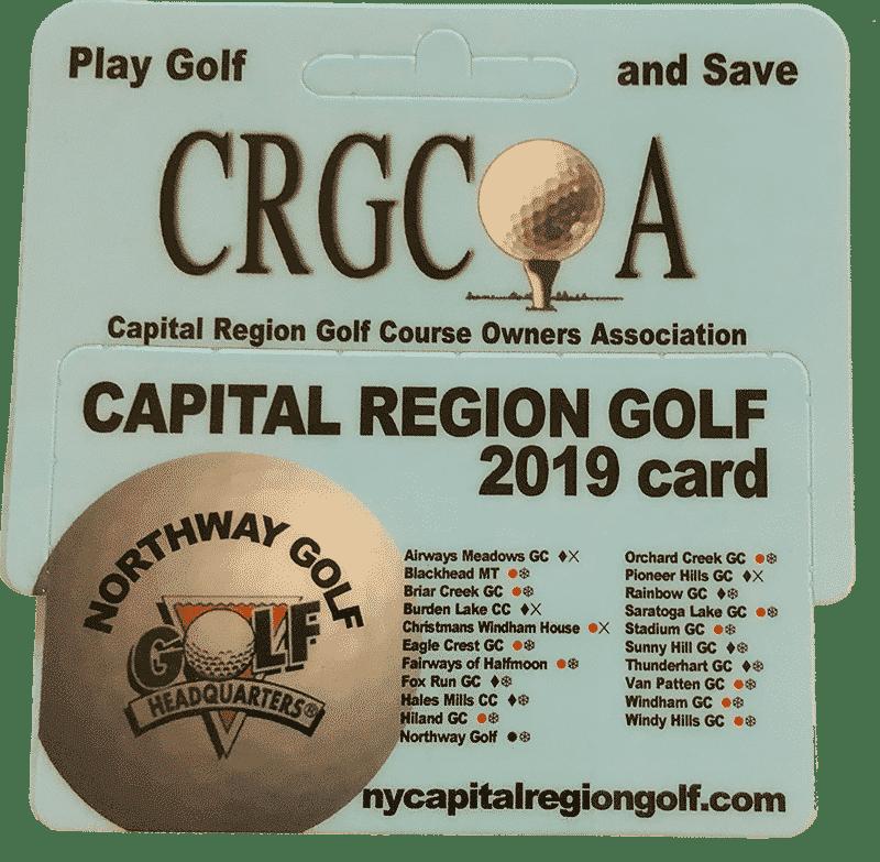 2019 Capital Region Golf Card Northway 8 Golf
